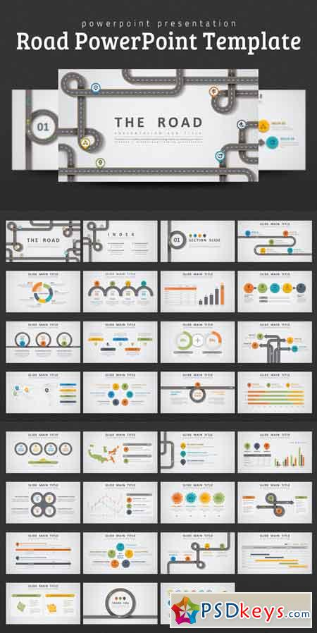 Road PowerPoint Template 686200