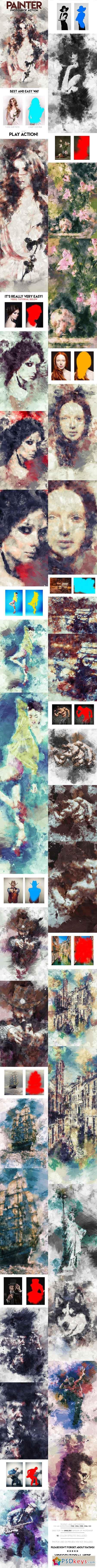 Painter Photoshop Action 16082064