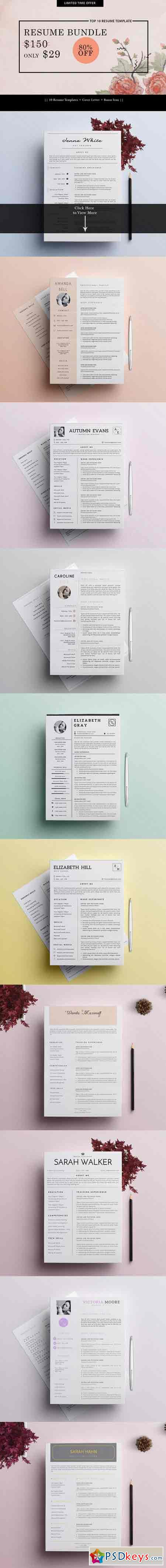 Top  Resume Cv Template   Free Download Photoshop Vector