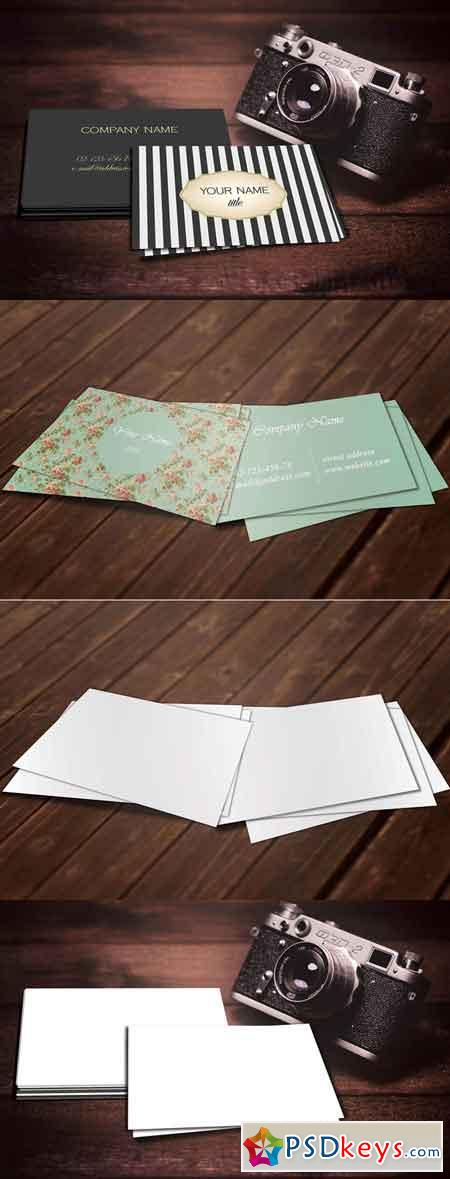 Realistic Business Card Mockup Set 678500