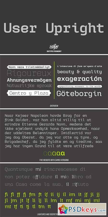 User Upright Font Family