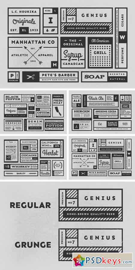 34 Vintage Labels 337760