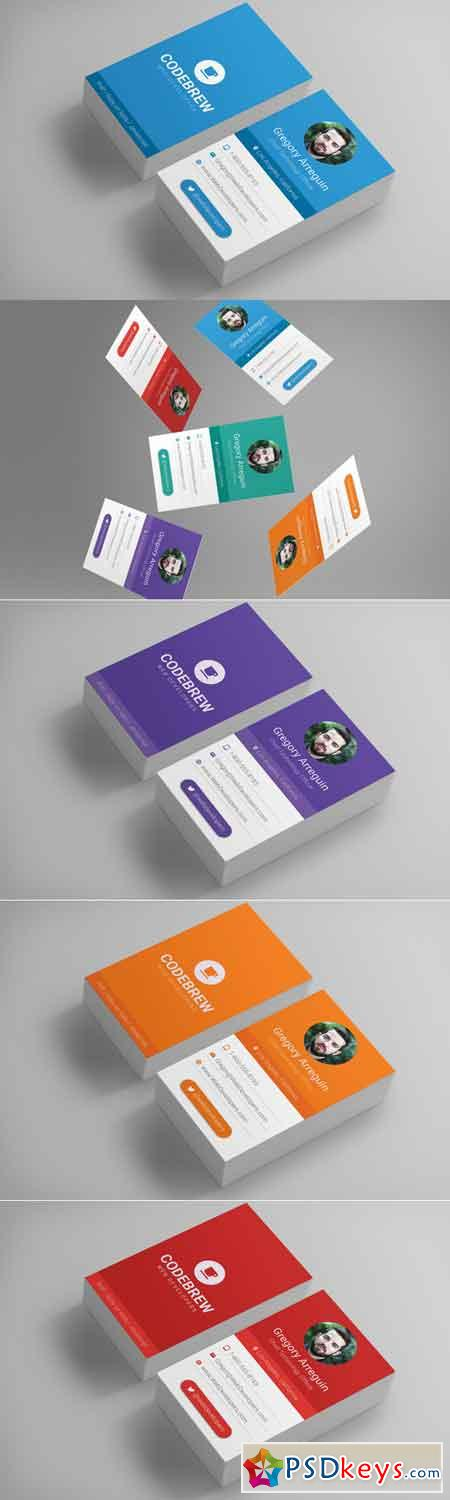 Material Design Business Cards 702142