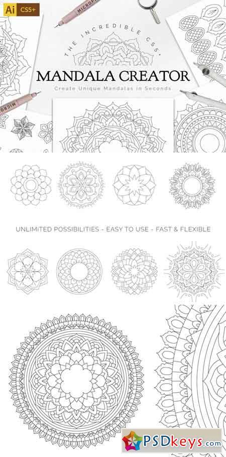 Mandala Creator Pro for Ai CS5+ 702373