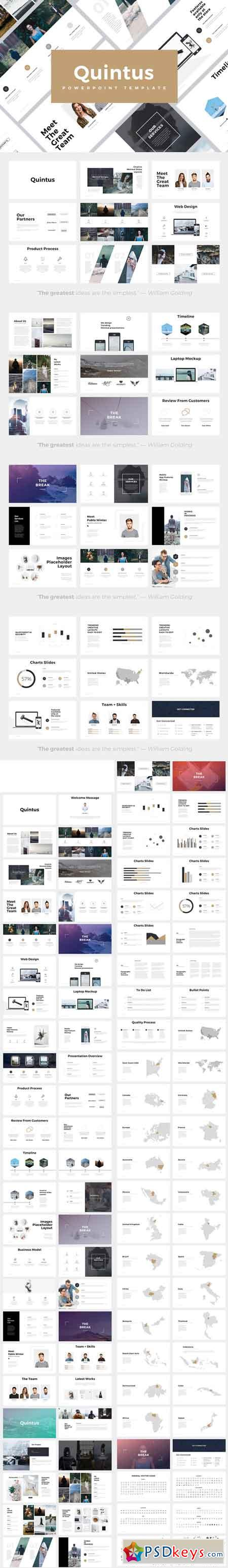 Quintus Minimal Powerpoint Template 685988