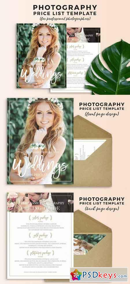 Wedding Photography Pricing Template 686516