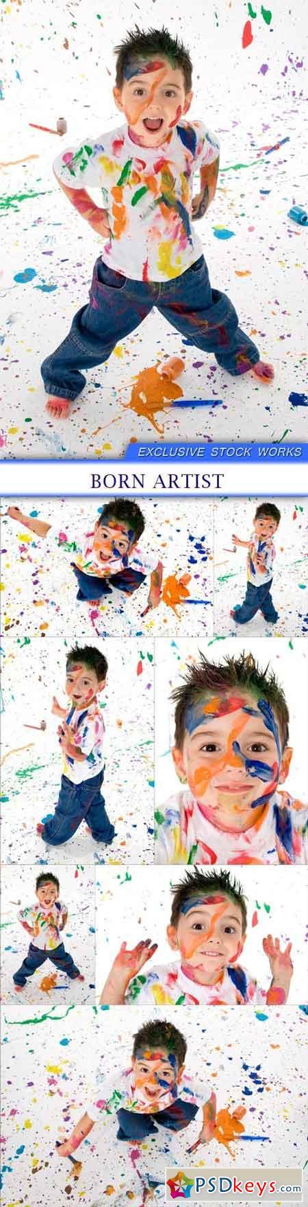Boy born artist 7X JPEG