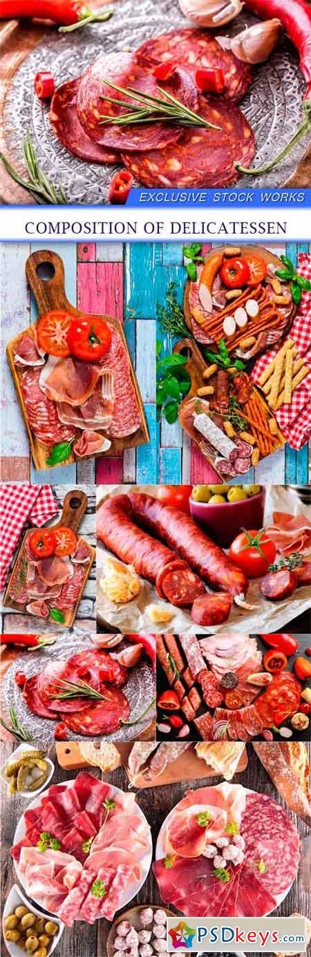 Composition of delicatessen 7x JPEG