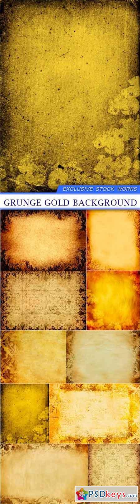 Grunge gold background 10X JPEG