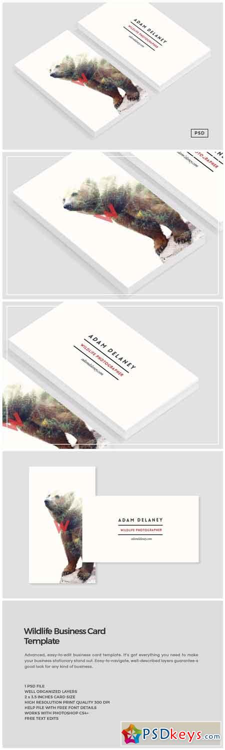 Wildlife Business Card Template 684757