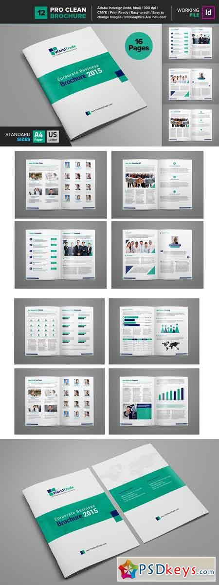 Clean Brochure Template 12 662397