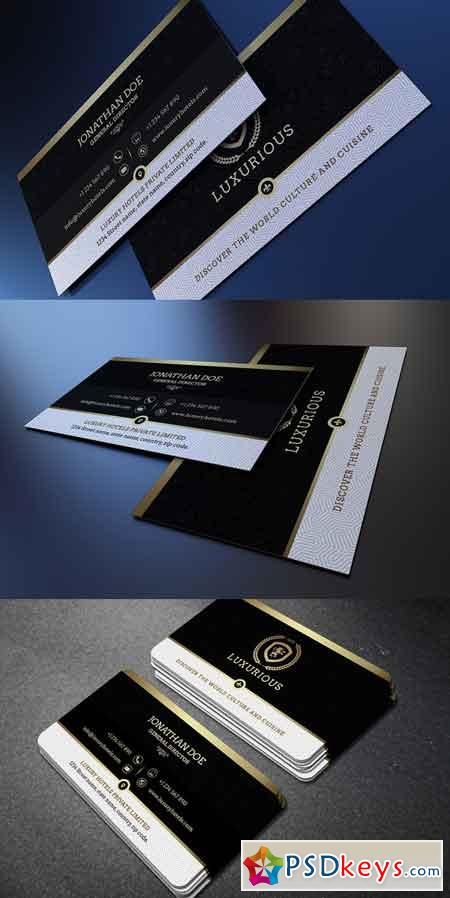 Gold and Black business card #39 662189