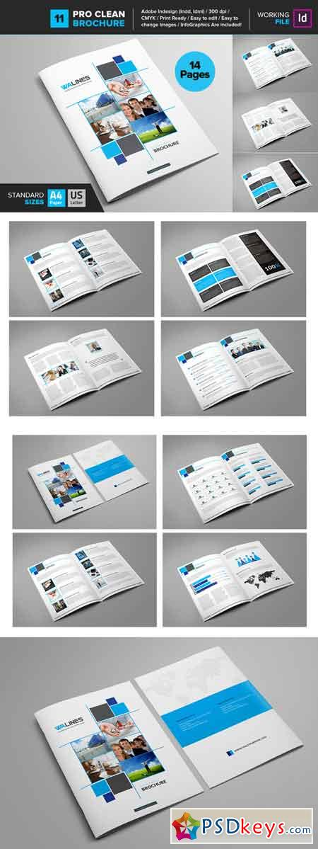 Clean Brochure Template 11 662376