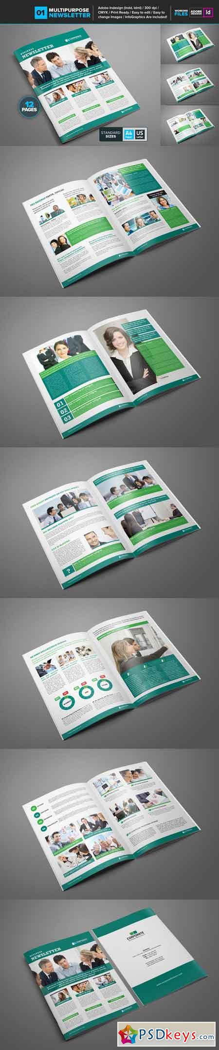 Multipurpose Newsletter Template 01 681508