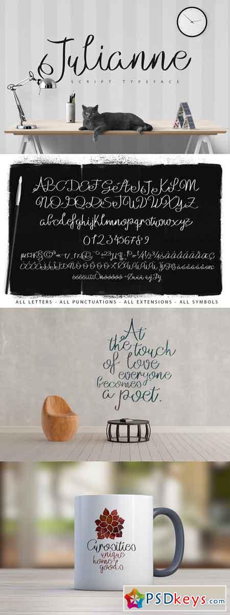 Julianne Script Typeface 686043