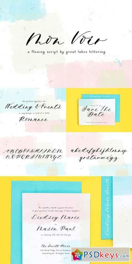Mon Voir Script Font 699475