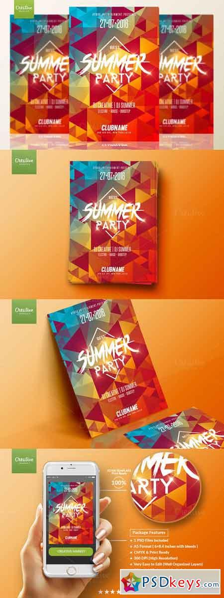 Summer Party Psd Flyer Template 678797