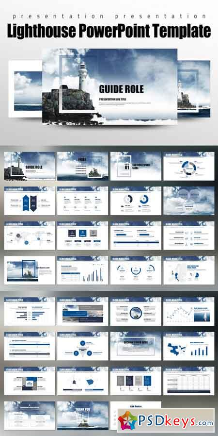 Lighthouse PowerPoint Template 686157