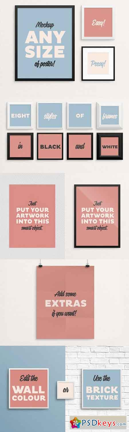 Poster Frame Mockup – fits ALL sizes 332015 » Free Download ...