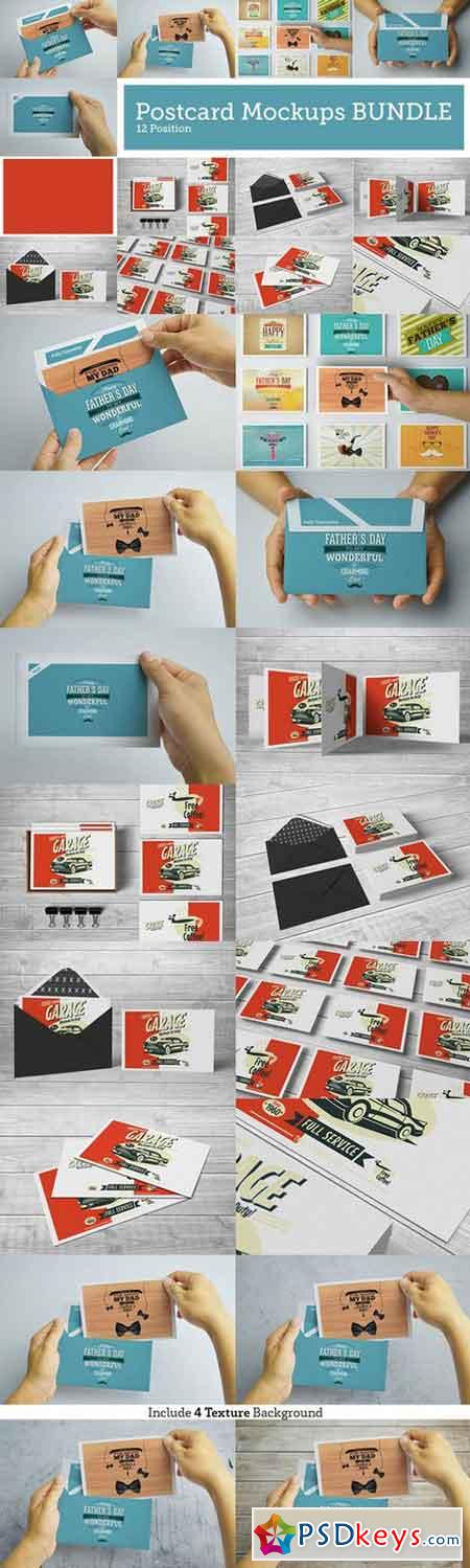 Postcard BUNDLE Mock-Ups 689132