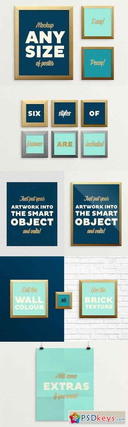 Poster Frame Mockup – fits ALL sizes 517227 » Free Download ...