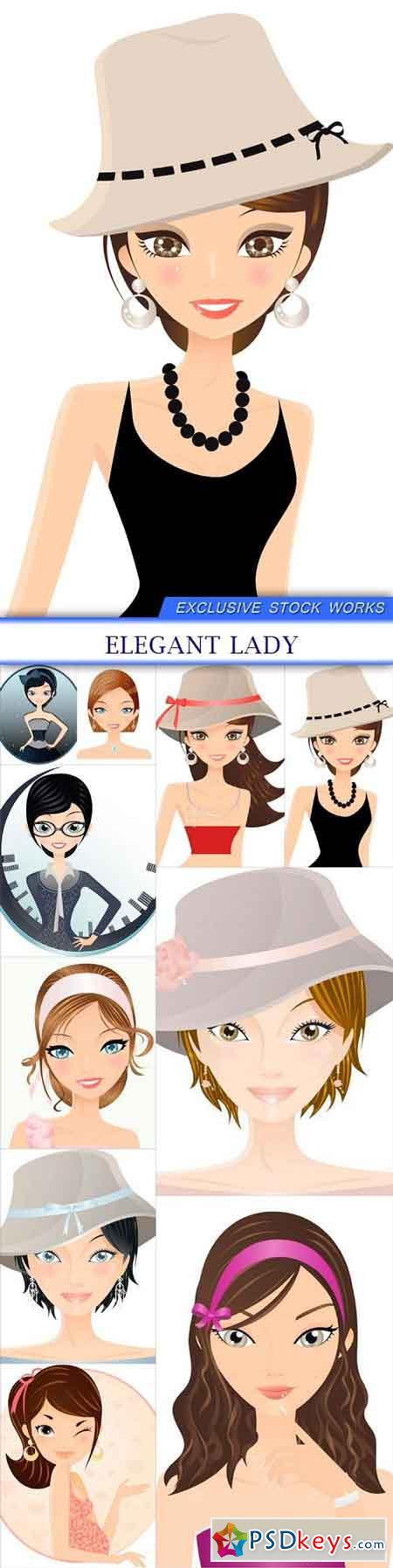 Elegant lady 10X EPS