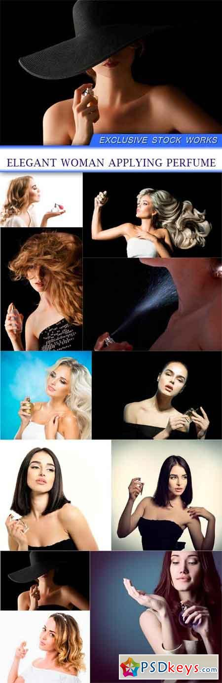 elegant woman applying perfume 11X JPEG