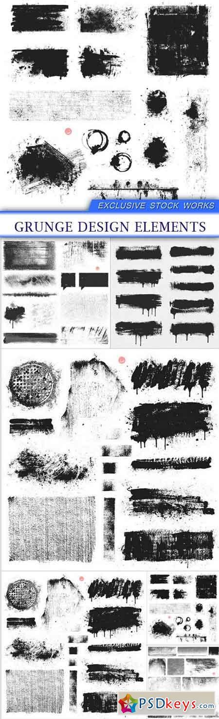 Grunge Design Elements 6X EPS
