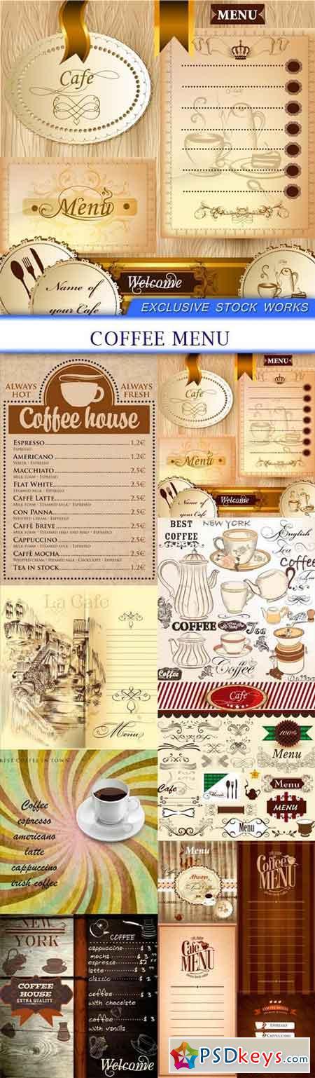 coffee Menu 11X EPS