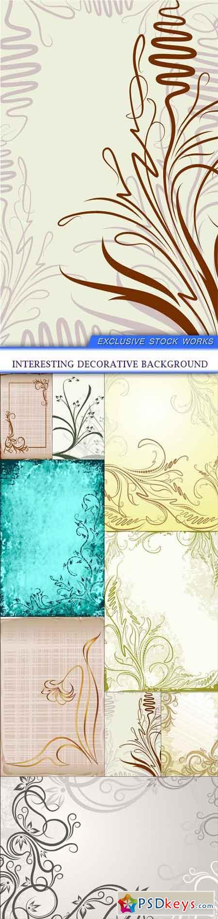interesting decorative background 9X EPS