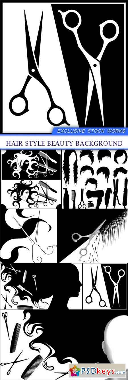 Hair Style Beauty Background 7X EPS