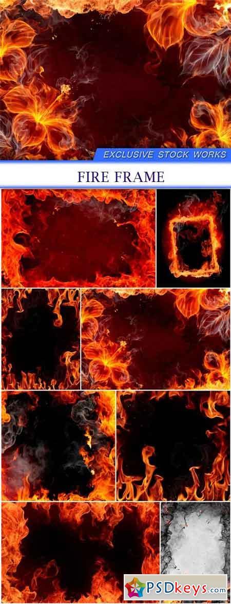 Fire frame 8X JPEG