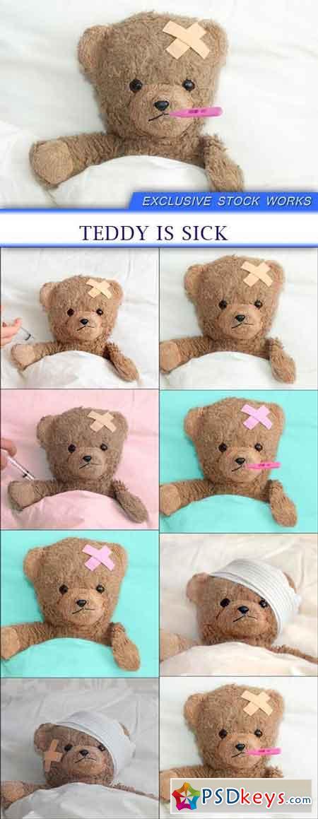 teddy is sick 8X JPEG