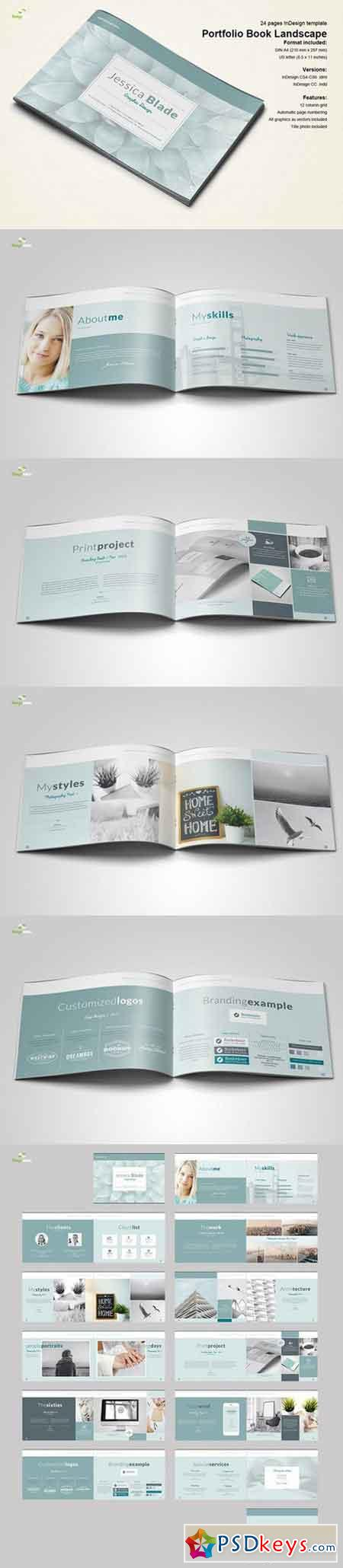 Horizontal Portfolio Book 698553