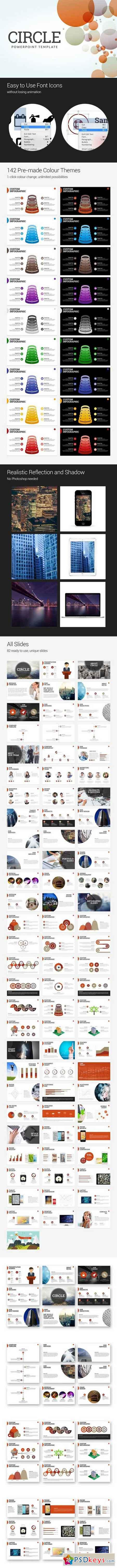 Circle- PowerPoint Template 704019