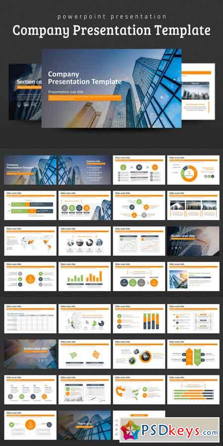 company presentation template 686172 » free download photoshop, Presentation templates