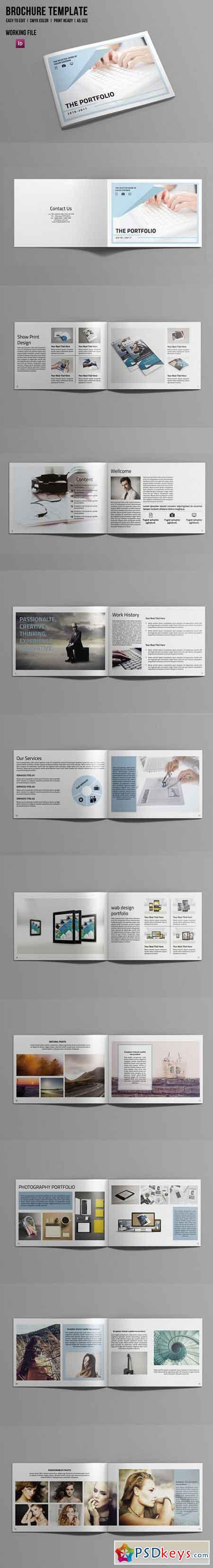 indesign portfolio brochure v506 695944 free download photoshop vector stock image via torrent. Black Bedroom Furniture Sets. Home Design Ideas