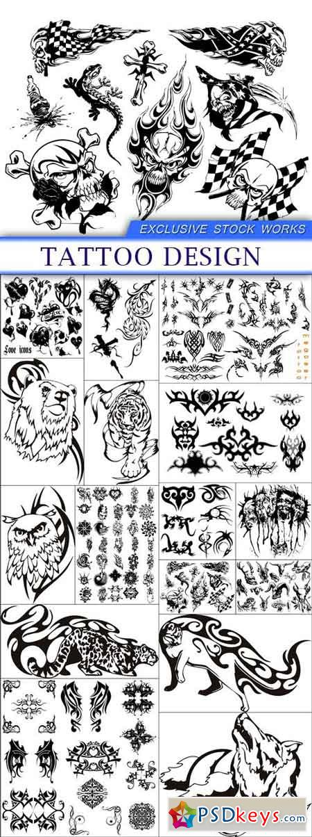 Tattoo design 16X EPS