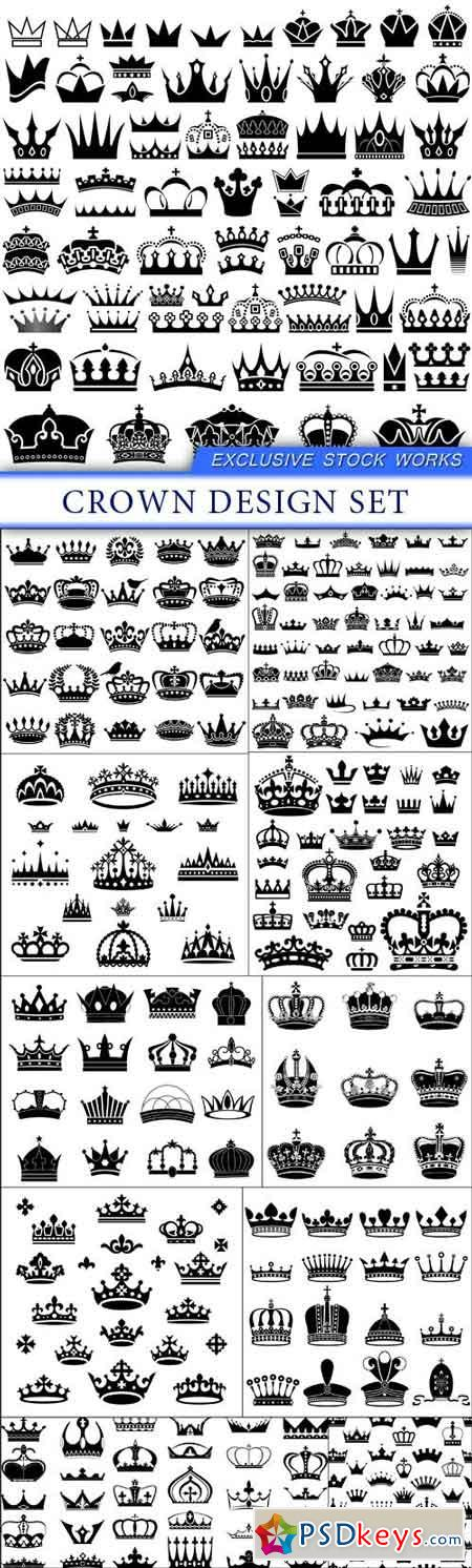 Crown design Set 11X EPS