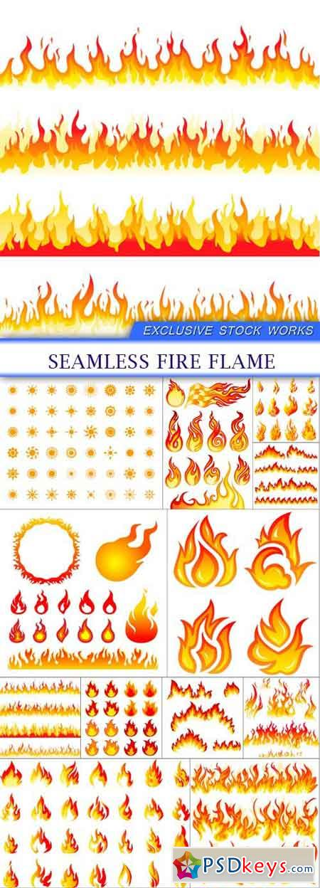 Seamless Fire Flame 12X EPS