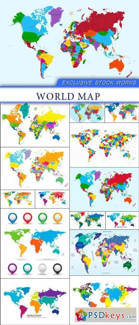 World map 14X EPS
