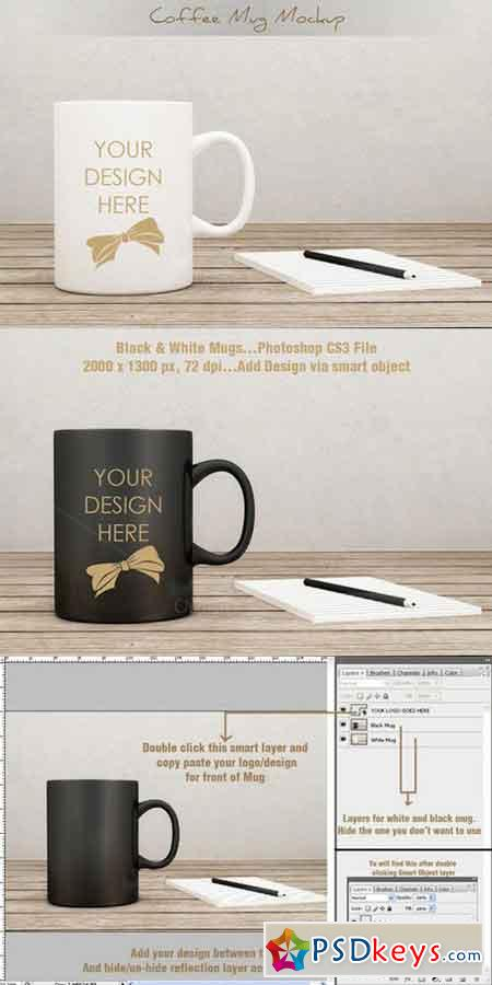 Coffee Mug Cup Mockup vol.2 297637