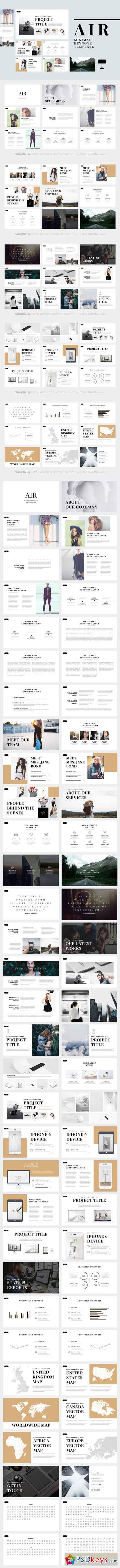 Air Minimal Keynote Template 625863