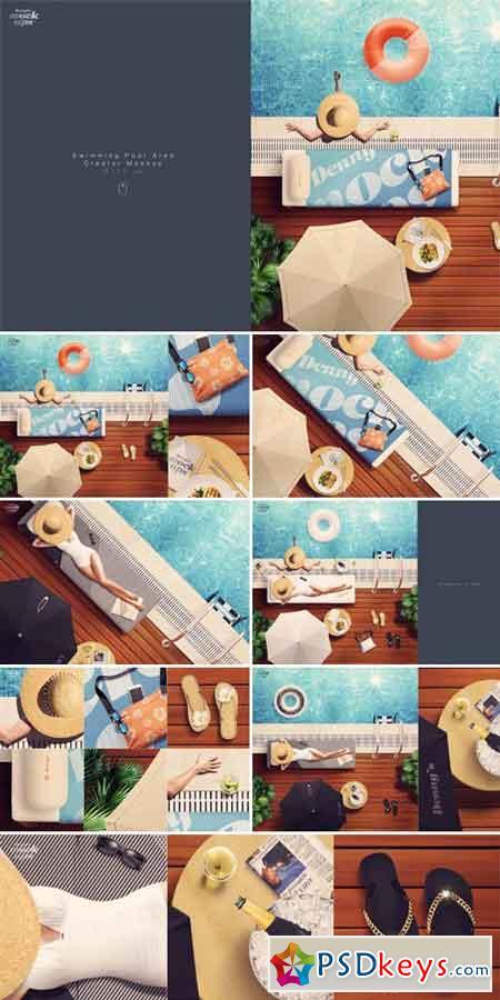 Swimming Pool Scene Creator Mockup 689401