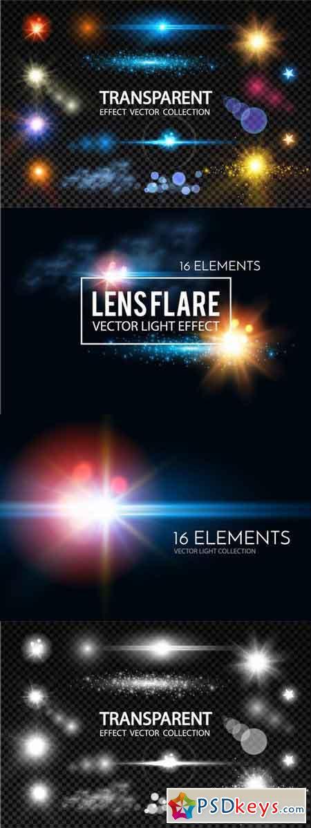 Lens Flares Set. Vector & Raster 683398