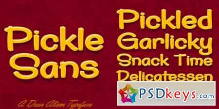 Pickle Sans Font