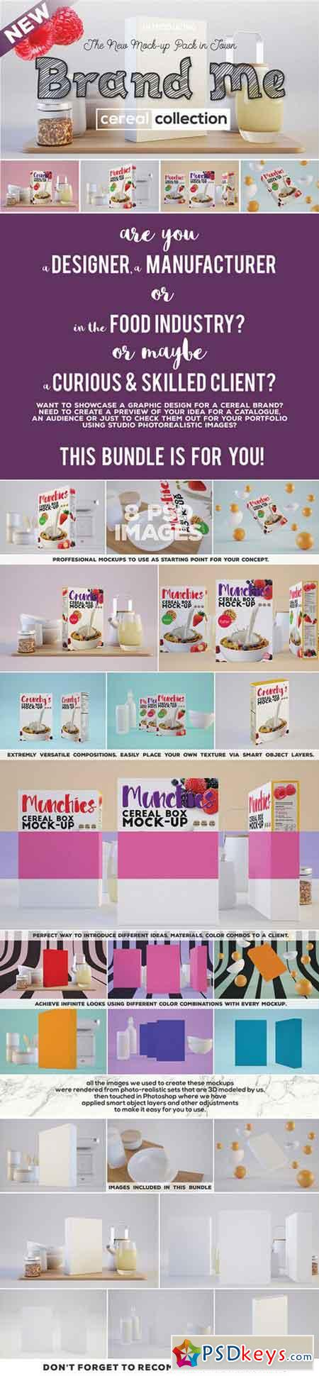 Brand Me - Cereal Mock-up Collection 709462