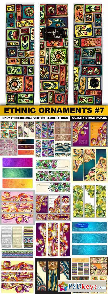 Ethnic Ornaments #7 - 25 Vector
