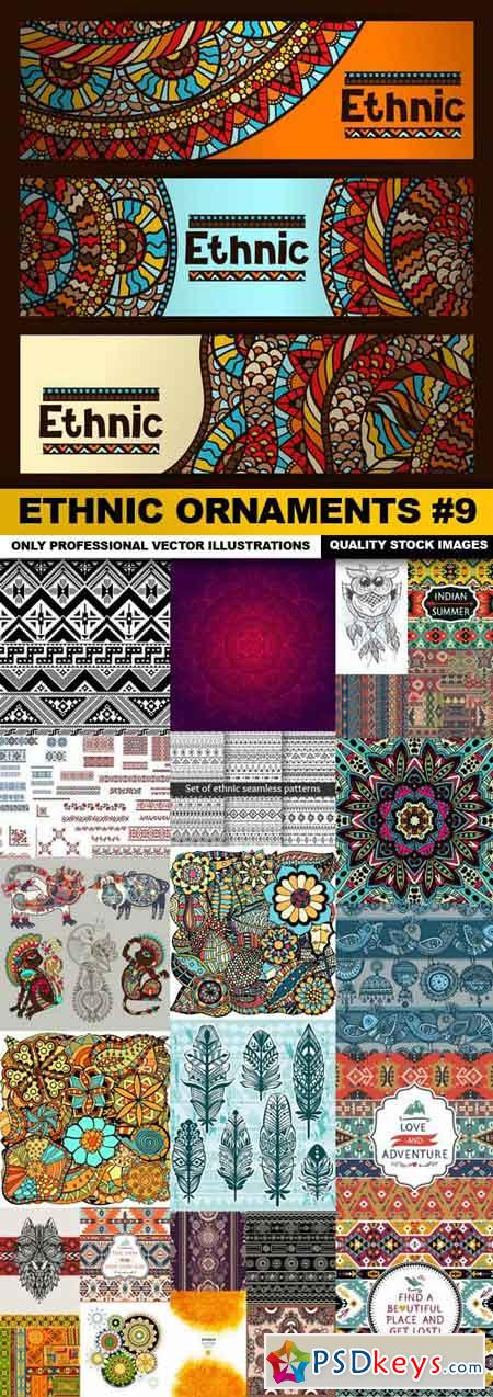 Ethnic Ornaments #9 - 25 Vector