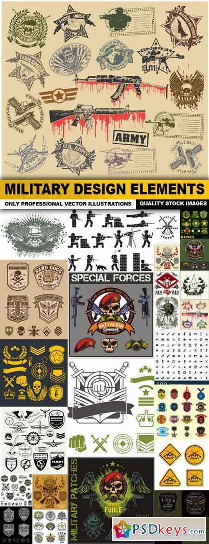 Military Design Elements - 25 Vector